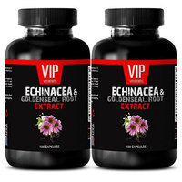 Echinacea root extract - ECHINACEA AND GOLDENSEAL ROOT EXTRACT - Natural pain relief supplements - 2 Bottles 200 Capsules