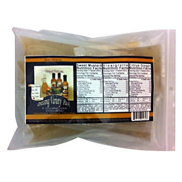 Variety Single Serve Packets - Vinaigrette, Sweet Mustard, and Citrus Ginger (6 Packets)
