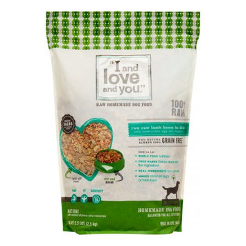 I and Love and You In the Raw Lamb Recipe Dehydrated Dog Food, 5.6 lbs.