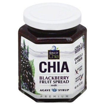 World Of Chia Fruit Spread, Blackberry, with Agave Syrup, 10.9 Oz