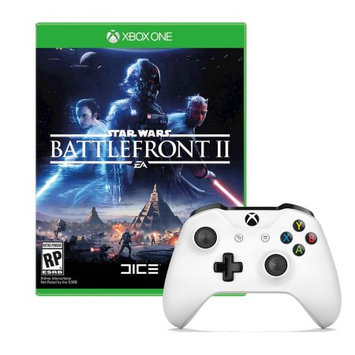 Microsoft Xbox One Controller in White with Star Wars Battlefront 2