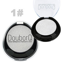 Single Glitter Eyeshadow Long-lasting Waterproof Highlight for Somky Eyes Light and Soft Cream Makeup Brighten Eye Shadow with 2 Ended Brush