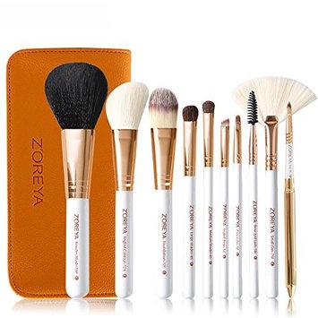 OVERMAL New 10 pcs Makeup Brush Set tools Make-up Toiletry Kit Wool Make Up Brush Set