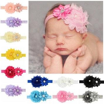 Baby Girls Headband, Coxeer Ribbon Hair Bows Clips Fashion Flower Hair Accessories For Girls Kids 12 Pcs