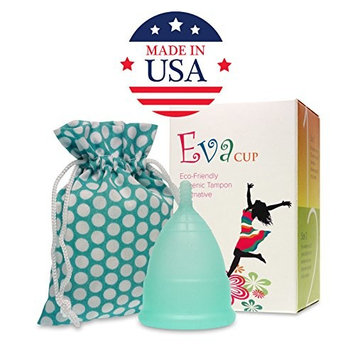 Anigan EvaCup, Top-Quality, Reusable Menstrual Cup, Eco-Friendly Alternative to Tampons, Blizzard Blue, Large
