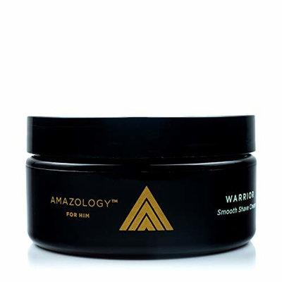 Amazology Shave Cream - Super Smooth Creamy Lather with Andiroba & Buriti Oils, Aloe, Vitamin E and Amino Acids (8 oz.)