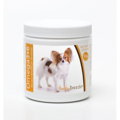 Healthy Breeds 840235142782 Papillon Omega 3 & 6 Soft Chews - 60 count