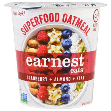 Earnest Eats, Superfood Oatmeal, Cranberry + Almond + Flax, American Blend, 2.35 oz