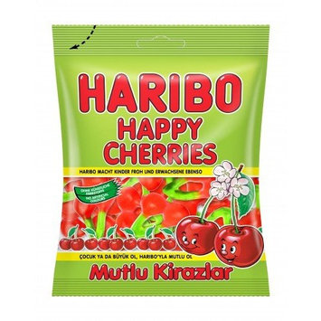Case Of 24 Haribo Halal Happy Cherries 100g Per Packet