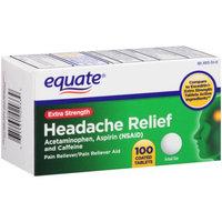 Compare to Excedrin Equate Extra-Strength Headache Relief Tablets, Acetaminophen, Aspirin, Caffeine - 100ct