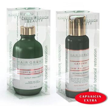 STEPS 1 & 2: Cayenne/Capsaicin Natural Hair Growth Pre-Shampoo Scalp Treatment 4 Oz and Anti-Hair Loss Shampoo Travel Size 3.4 Oz For Hair Loss and Hair Thinning Prevention