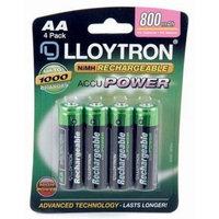 Lloytron-4 X Aa 800 Mah Rechargeable Batteries