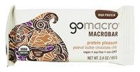 Go Macro GoMacro - MacroBar Protein Pleasure Peanut Butter Chocolate Chip - 2.5 oz(pack of 12)
