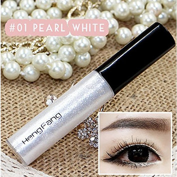 Beauties Factory Shiny Glitter Liquid Eyeliner Eye Highlight Party Home Makeup in Seconds (Pearl White)