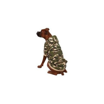 Zack & Zoey Camo Fleece Lined Dog Hoodie - Size: X-Small, Color: Green