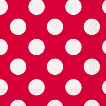 Red Polka Dot Party Napkins, 16ct [Lunch Napkins]