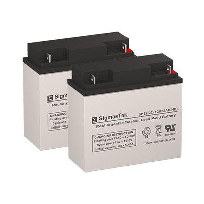 Pride SC54HD Elite Traveller Plus Replacement Lawn Mower Battery (Set of 2 - 12V 22AH SLA Batteries)