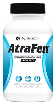 Nutratech Atrafen - Powerful Fat Burning and Appetite Suppressant Diet Pill System. Lose Weight Quickly and Ea