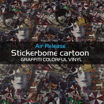 Car Elements Resident Evil Sticker Bomb Stickerbomb Vinyl Sheet Self-Adhesive Graffiti Wrap Stickerbomb Wrap Decal (12' x 60')
