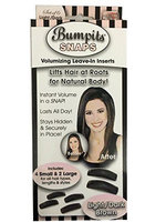 Toner Depot Black Bumpits Snaps Hair Volumizing Leave-in Inserts, Dark Brown/black Lifts Hair