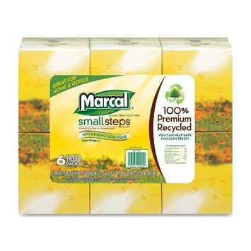 Marcal Facial Tissue, 100% Recycled 2-Ply, White, Soft Facial Tissue Paper - 80 Tissues per Cube, 36 Cubes Per Case - Bulk Office Tissue Paper Boxes 04034