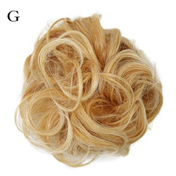 dzt1968 Women Curly elastic Bun Piece Scrunchie Wigs Extension Hairdressing (G)