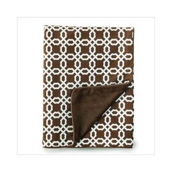 Skip Hop Chocolate Lattice Blanket