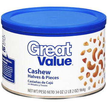 Great Value Cashew Halves & Pieces, 34 oz