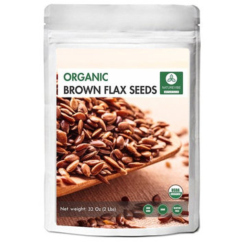 Organic Brown Flax Seed (2lb) by Naturevibe Botanicals, Gluten-Free & Non-GMO (32 ounces)