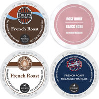 Faro Roasting Houses French Roast K-Cup 96 count Variety Pack-Barista Prima, Faro Rose Noire Medium Roast, Tully's French Roast, and Timothy's