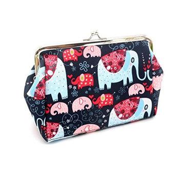 HP95(TM) Women Lady Retro Vintage Elephant Small Wallet Hasp Purse Clutch Bag
