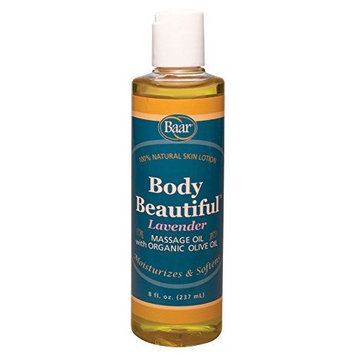 Body Beautiful Lavender Skin Lotion and Massage Oil, 8 Ounces