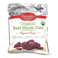 Organic Beef Steak Cuts, Organic Beef Jerky, Naturally Smoked, No added Nitrates