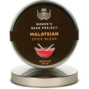 Women's Bean Project All-Natural Specialty Malaysian Rub Spice Blend, 2 Ounce Tin