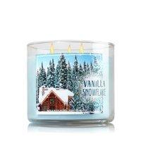 Bath & Body Works 3-Wick Candle 2016 Winter Edition Vanilla Snowflake []