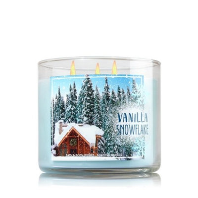 Bath & Body Works® Vanilla Snowflake 3 Wick Candle