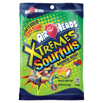 Airheads Xtremes Sourfuls Rainbow Berry Chewy Candy - 6 oz