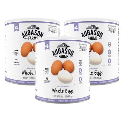 Augason Farms Dried Whole Eggs 3 Cans Combo (Pack of 3)