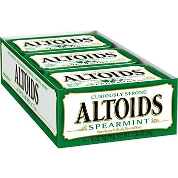 Altoids Curiously Strong Mint 1.76 Oz Tins (Pack Of 12) - Spearmint (3 Units Per Order)