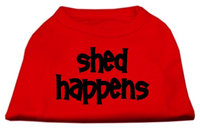 Mirage Pet Products 5149 SMRD Shed Happens Screen Print Shirt Red Sm 10