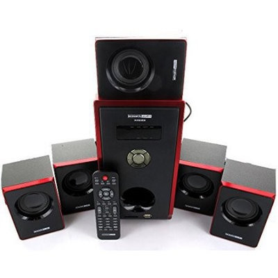 Acoustic Audio AA5103 5.1Channel 800W Home Theater Surround Sound Speaker System