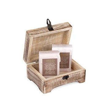Ten Thousand Villages Fair Trade Soap Set in Whitewashed Wood Box 'Green Tea & Ginger Soap Box'