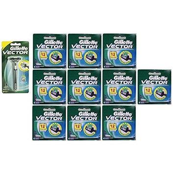 Vector Plus Razor Handle + Vector Plus Refill Razor Blades 4 ct. (Pack of 10) + FREE LA Cross 71817 Tweezer