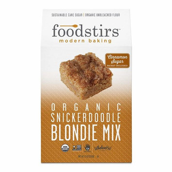 Foodstirs Organic, Non GMO Snickerdoodle Blondie Mix, 13 Ounce