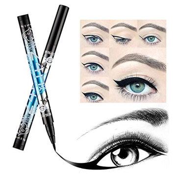 DZT1968 12pcs 13cm Waterproof long lasting precise Beauty Makeup Cosmetic Eye Liner Pencil Black Liquid