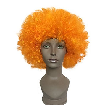 Costume Afro Wig Orange Synthetic Kinky Wigs by Namecute + Free Wig Cap