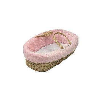 Babydoll Heavenly Soft Moses Basket, Pink