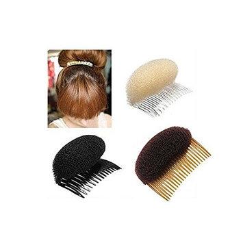 2PCS Women Lady Girl Magic Hair Styling Clip Do Beehive Hair Styler Tool Charming Bump It Up Volume Inserts Stick Bun Maker Hair Comb Hair Accessories