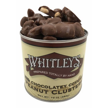 Whitley's Milk Chocolatey Covered Peanut Clusters 10 Ounce Tin