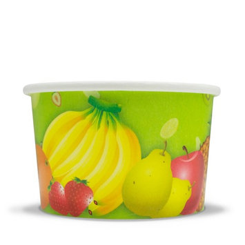 Fresh Fruit Paper Ice Cream Cups - 6 oz Dessert Bowls - Comes In Many Colors & Sizes! Frozen Dessert Supplies - Fast Shipping! 50 Count [count_per_pack: count_per_pack-50 pattern: pattern-solid]